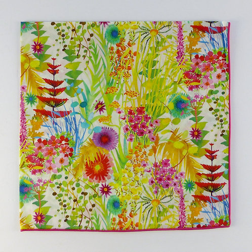 Cotton Liberty Scarf with Rolled Edge Tresco Bright