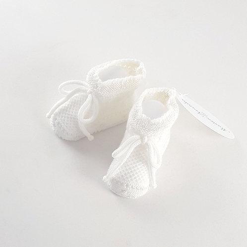Martin Aranda Cream Knitted Booties   3m