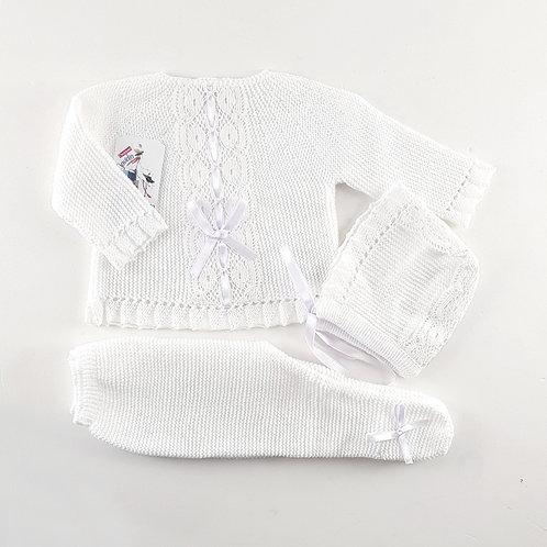Creaciones Gavidia White with Lace & Ribbon 3 Pc Set