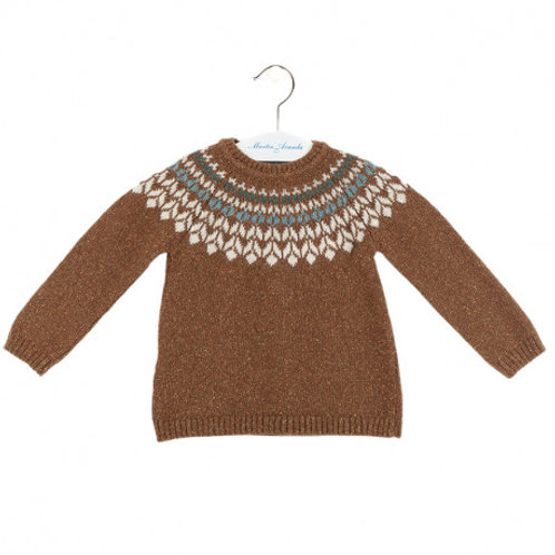 Martin Aranda Brown Knitted Jumper | 18m