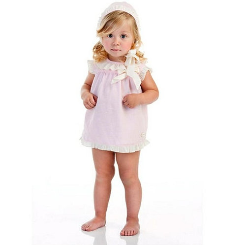 Cocote Pink with Cream Ruffle 3 Piece Set | 12m