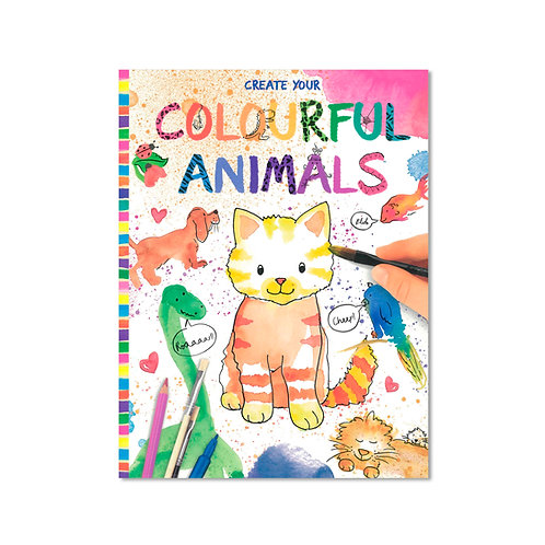 Create Your Colourful Animals Book