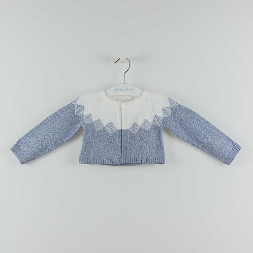 Martin Aranda Blue Triangle Knit Cardigan   12m