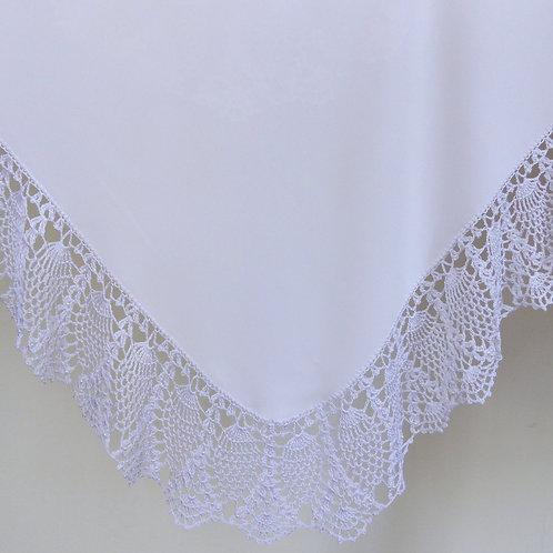Crochet White Beaded Wrap & Pillowcase