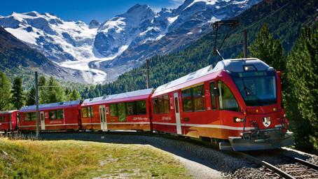 Trenino Rosso del Bernina, Laghi di Saint Moritz, Santuario di Tirano