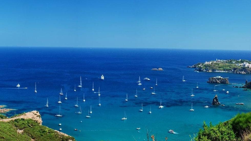 Isola di Ponza, Giardino di Ninfa, Riviera di Ulisse
