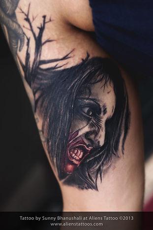 Demonic Portrait Tattoo