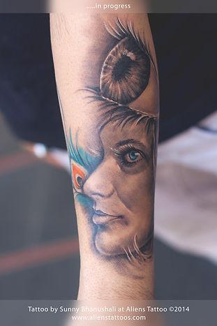 Essence of Lord Krishna Tattoo