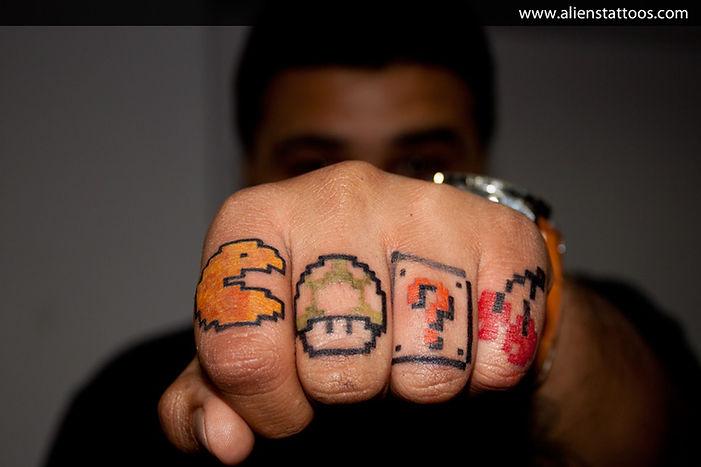 Mario Pacman Tattoo