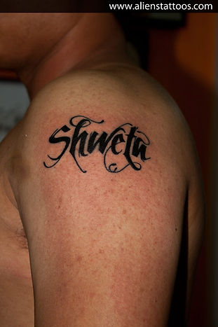 Calligraphy Name (Shweta) Tattoo