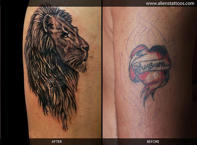 Lion Tattoo (Cover-Up)