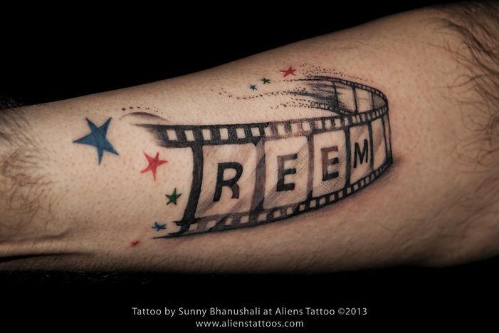 Name on Reel Tattoo