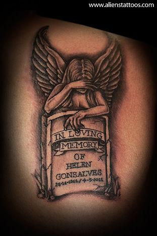 Crying Angel Tattoo