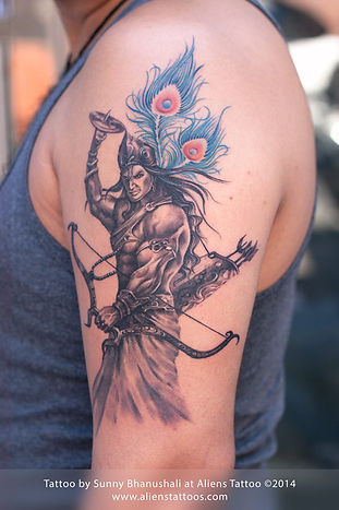 Warrior Lord Krishna Tattoo