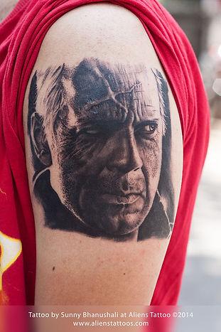 Bruce Willis Tattoo (Hartigan Sin City)