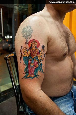 Goddess Durga Tattoo