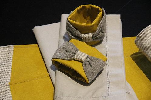 Kit Porta Guardanapo- Laço Pat Yellow
