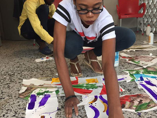 Collage Workshop with Thierry Oussou