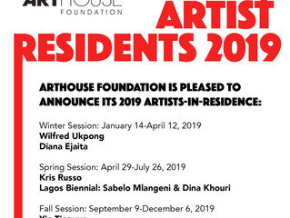 2019 Artist Residencies Announced!