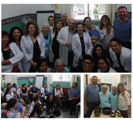 Ateneo en Hospital de Oncologia A. Roffo junto al Dr. Wolfgang Schmid y al Dr. Alvaro Saurí