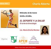 Deporte y Salud - APEM Argentina - Lic. María Emilia Montes