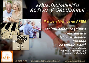 Envejecimiento activo y saludable | APEM Argentina | M. Laura Martínez Kuhn | Belgrano