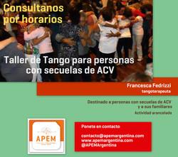 Taller Tango para personas con ACV