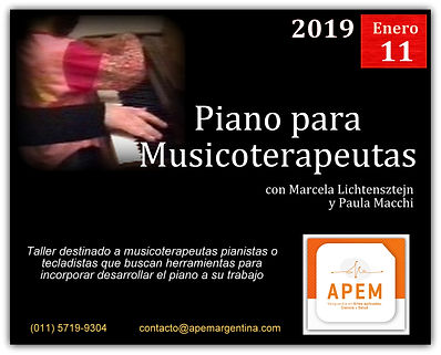 Piano para Musicoterapeutas Enero 2019 | APEM Argentina
