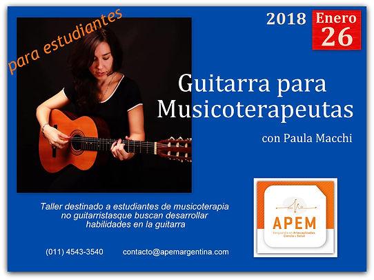 Guitarra para Musicoterapeutas y estudiantes de musicoterapia