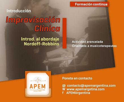 Improvisacion clinica | Introduccion a Nordoff Robbins
