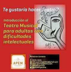 Teatro Adultos Dificultades Intelectuales | APEM Argentina | Belgrano | dificultades intelectuales, autismo, sindrome de down