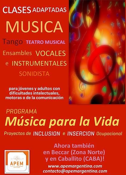 Clases adaptadas de música autismo sindrome de down deficit atencional asperger traumatismo de craneo Caballito Buenos Aires Beccar Zona Norte