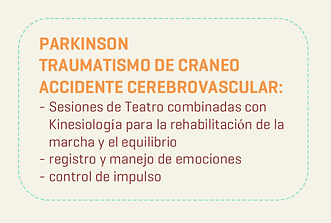 Teatro Parkinson Traumatismo de Craneo Accidente Cerebrovascular