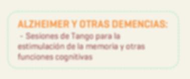 Tangoterapia Alzheimer Demencias