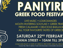 Support for the Greek Food Festival in Wellington 22 Feb 2020