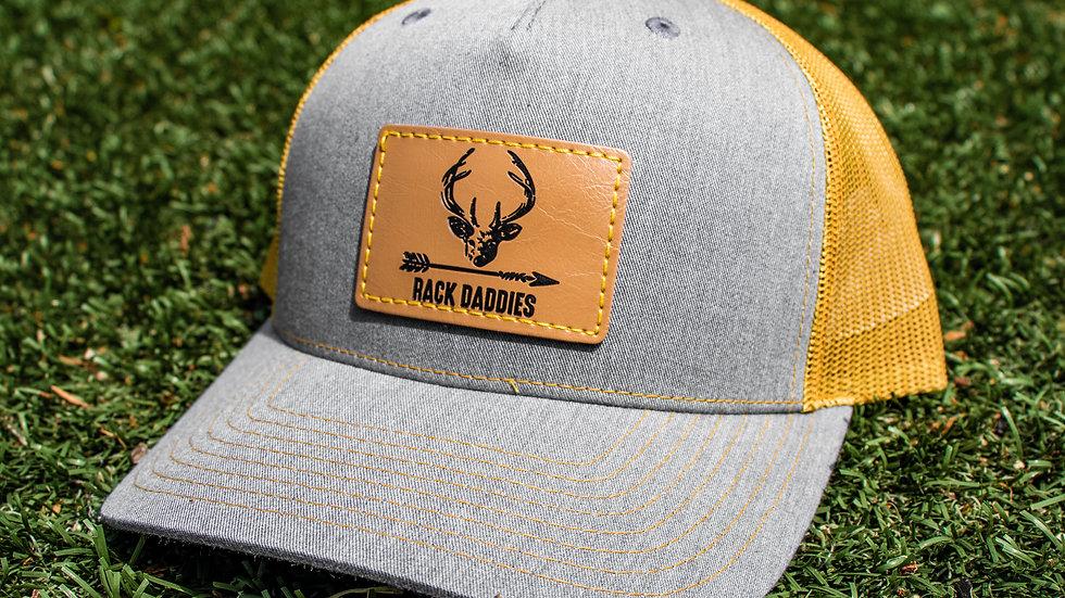 Buck Patch - Grey/Gold