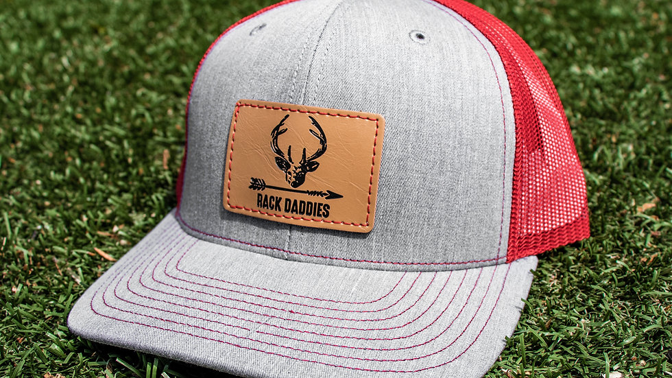 Buck Patch - Grey/Red