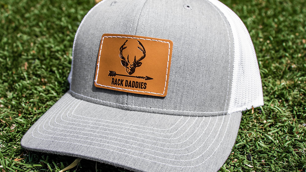 Buck Patch - Grey/White