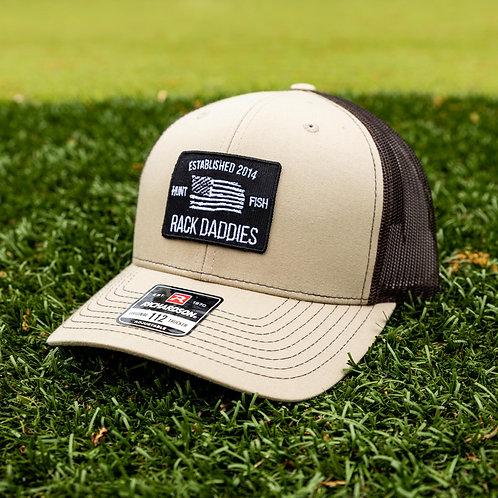 Tan & Brown Flag Hat