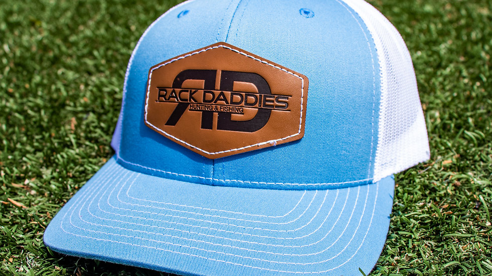 RD Leather - Carolina Blue/White