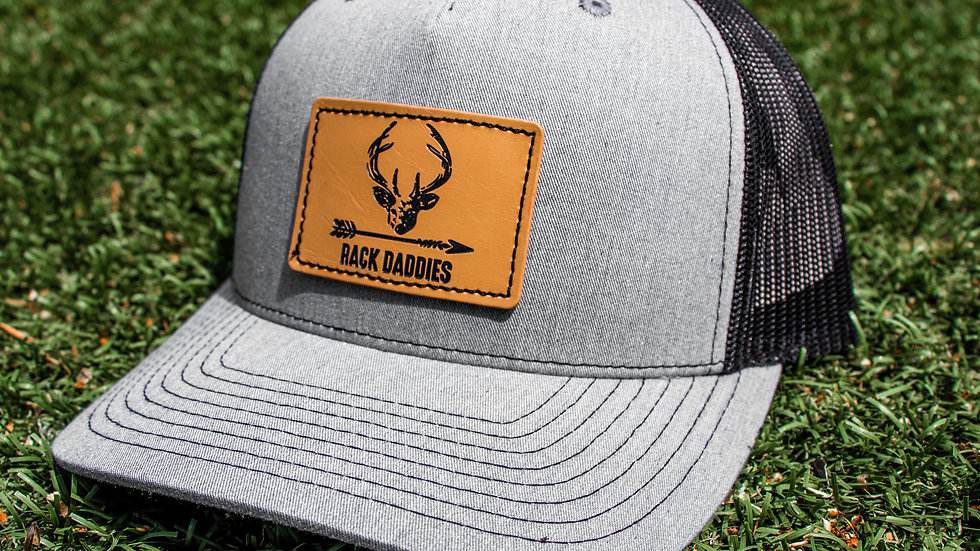 Buck Patch - Grey/Black