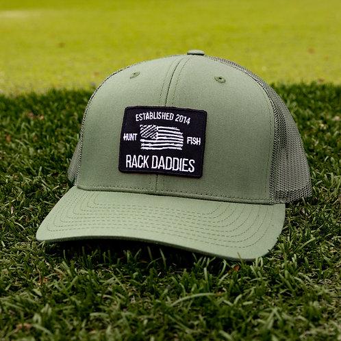 Moss Green Flag Hat