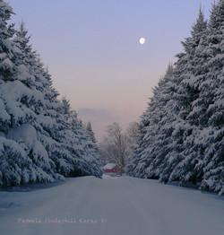 Winter Morning Moon
