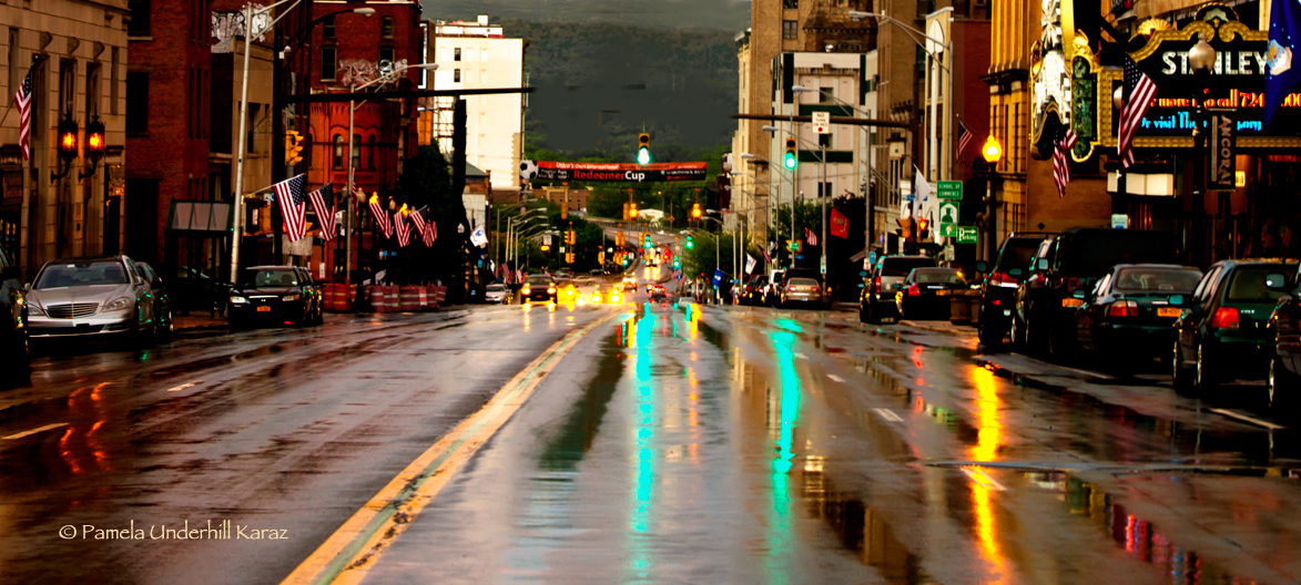 Utica Rainy Lights