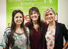 Eleni with UDK Casting Director Alex Newman and fellow actor Hayley McCarthy