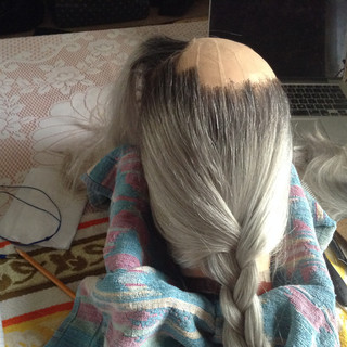 Wigmaking for Alex Rouse