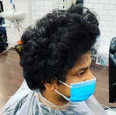 Dark Curly Hair Before - Annie Little