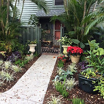 Gardens in Florida can include a wide variety of native and non-native plants from all over the world.