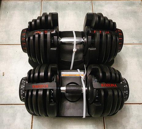2x24kg Adjustable Dumbbell
