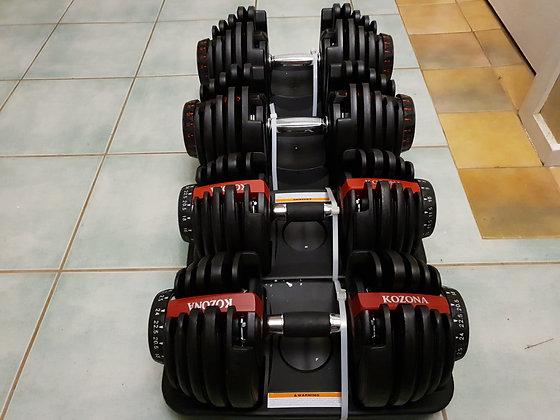 2x40kg Adjustable Dumbbells